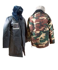 Пальто для пограничной службы и куртки для генералов