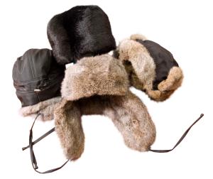 Шапки-ушанки модельные и женские из шкур кроля